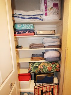 Coolers, beach towels, additional Iinen, etc. for our guests.