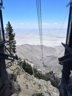 Take the Palm Spring Tram over 8000 feet above the Coachella Valley