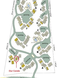 Map of Maui Kamaole: Our unit located in the front with DIRECT Ocean/Sunset view