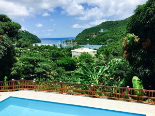 Treetops Villa Papaya suite in the beautiful Marigot Bay.
