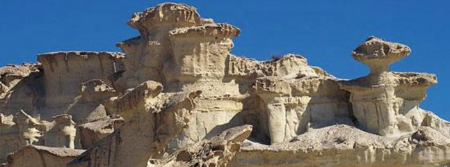 The famous  Sandstone  Rock Formations of Bolnuevo.