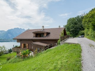 Beautiful Swiss home with amazing views, 2 balconies and large outdoor BBQ area!