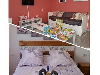 Apartamento Flamingo, amplio y con terraza ideal familia & grupos