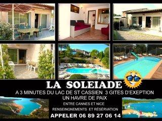 Gite les Lavandes Appartement 2- 4 personnes lac de st cassien 15mn de Cannes