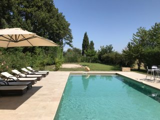 4 Acres renovated Orangerie with pool between vinyards in provence