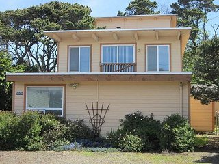 Ocean view home featuring game tables, and wood burning fireplace!