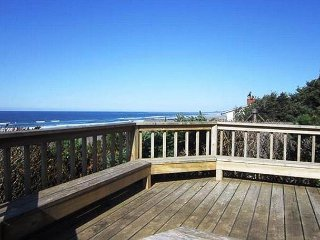 Stunning oceanfront home with wood burning fireplace and kids play area!