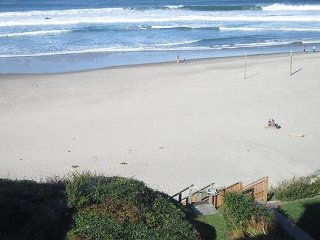 Oceanfront home with PRIVATE BEACH ACCESS and wood burning fireplace!