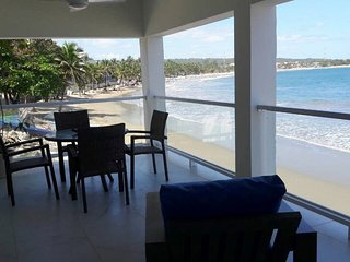 Brand New 2BD Beachfront Condo in Central Cabarete, Sea Views, Free Breakfast!