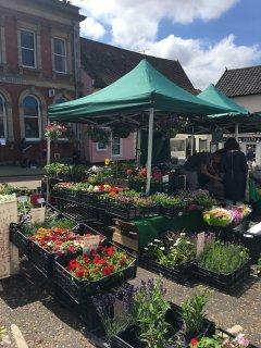 Nearby Framlingham on market day...