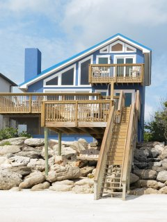 Gorgeous 4 bedroom 3 bath oceanfront home on the car free beach.