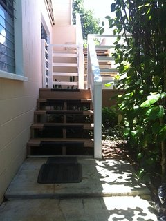 going up stairs
