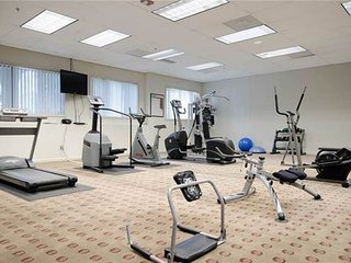 Fitness center with TV