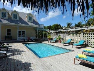 Hilltop Home near Town and Beach w/Ocean Views, Heated Pool, Golf Cart