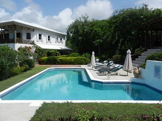 THE VILLA, Grenada, Caribbean. Luxury villa, large swimming pool, ocean views.