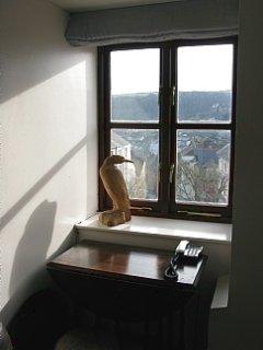 Living room window seat.