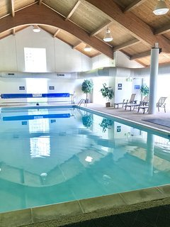 The indoor pool is perfect for playing, swimming laps, and lounging!