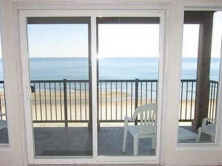 Oceanfront condo with access to indoor pool sauna and game room!