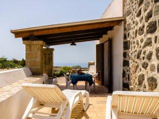 Dal patio è possibile godere di una bella vista