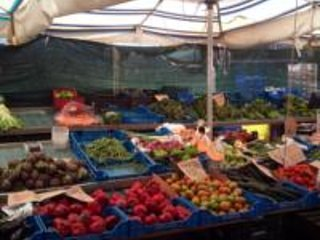 local market on Tuesday