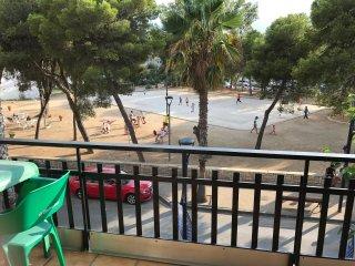 vista desde la terraza - parque justo enfrente.