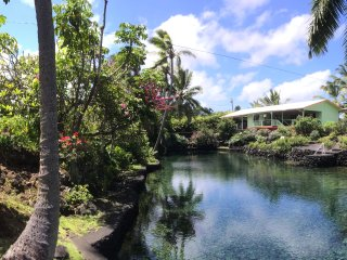Hale Loko Hawaiian Pond House Private Crystal Clear Large & Deep hot pond