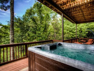 Custom Hot Tub with spectacular views.