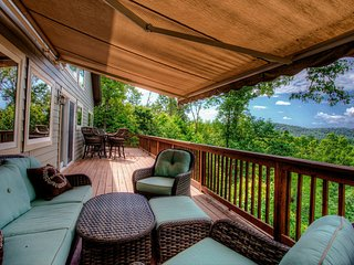 With the retractable awning, you can enjoy this outdoor space all day long and never tire of the views.