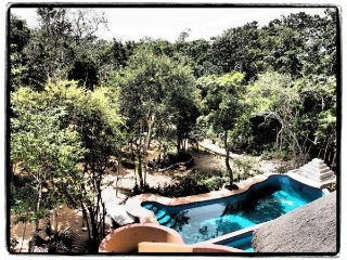 Suite for 3 in the Jungle, with Kitchenette, A/C & Swimming Pool