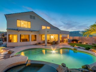 Modern & Updated w/private Pool, hot tub, foosball, Grill, & Private Mtn. Views!