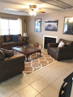 Open concept living, dining and kitchen area means the entire group can enjoy each other's company.