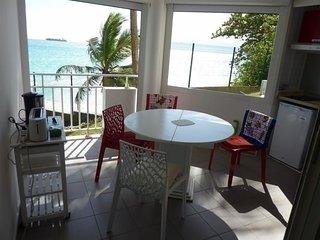 studio rez de jardin face à la mer