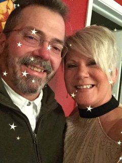This is us, Tom & Windy - the local Butcher and Butchers Wife we look forward to hosting your stay