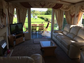 lounge overlooking the garden and play area
