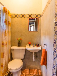 Your bathroom... yes, with a hot-water shower!