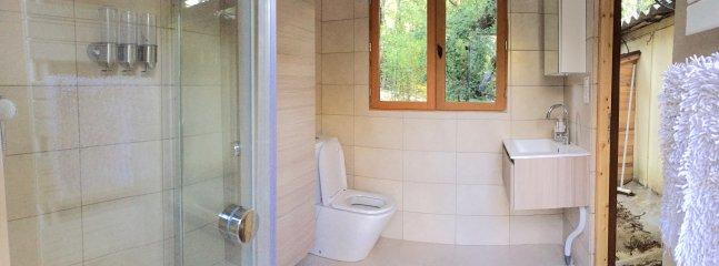 Guest house bathroom.
