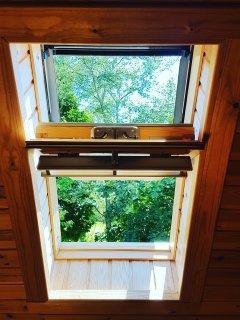 velux window in upstairs rear bedroom