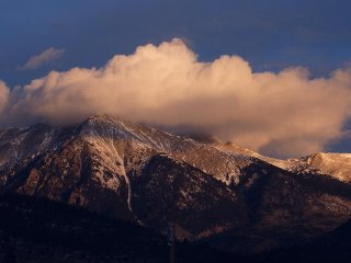 View of 14,000+ ft. Mt. Shavano as seen from kitchen and other windows!