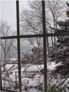 Castine's harbor in Winter (view from a friend's house)