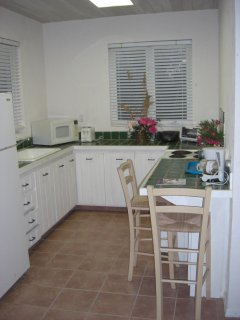 Fully equipped guest house kitchen