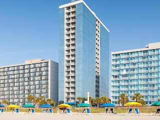 Myrtle Beach, Ocean Front, 1 Bdrm Deluxe sleeps 4  (July6 -13th) SEAGLASS TOWER