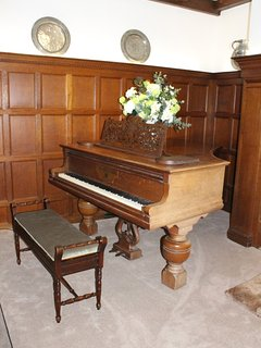 The piano in the Oak room