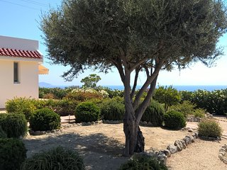 Kalathos, Rhodes-Unique small villa with sea view and large garden
