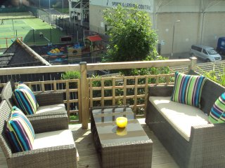 Some of the front deck area .with views of Atlantis Leisure and two childrens play parks.