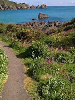 Walk down to Moulin Huet beach, just five minutes on foot