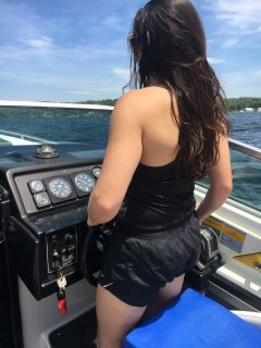 Capt Jennifer driving  The formula  long lake 7/2017