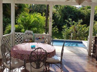 La Paillote, near beach, 3 bedroom\, garden & pool