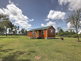NEW! 2BR Plantersville Cabin on 46 Acres of Land!