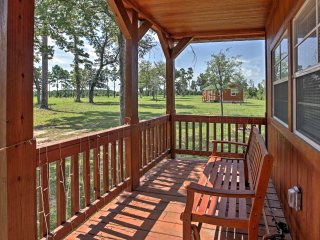 Plantersville Cabin on 50 Acres w/ Fishing Pond!