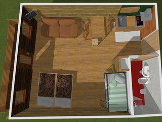 appartamento  monolocale 4/5 posti